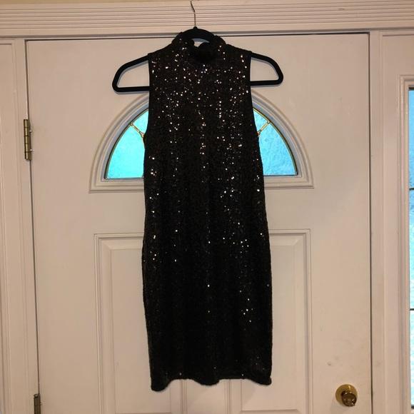 Kensie Dresses & Skirts - Kenzie Black Sequin Cocktail Dress
